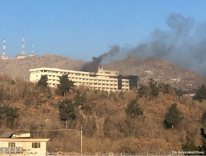NEW: Kabul Intercontinental Hotel siege over, at least 5 civilians and 4 gunmen dead https://t.co/NtPbPiAF8C https://t.co/yZMqAVb6Yl