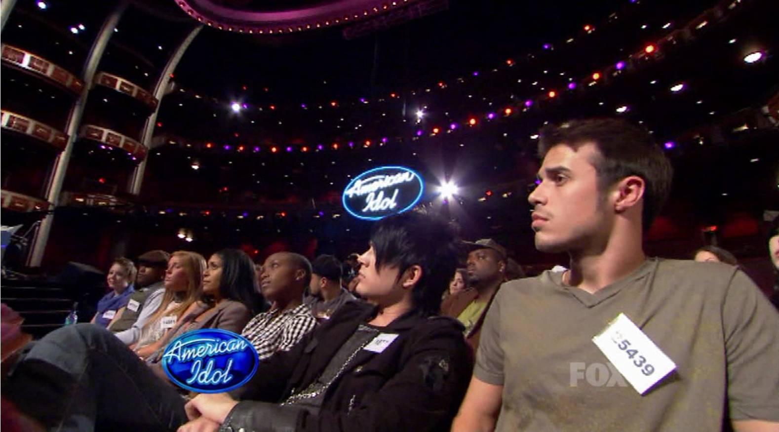 #Happy9thAnniversaryAdamLambert �� @adamlambert on @American Idol in the audience, waiting, waiting... https://t.co/xqSKpNh3Pd