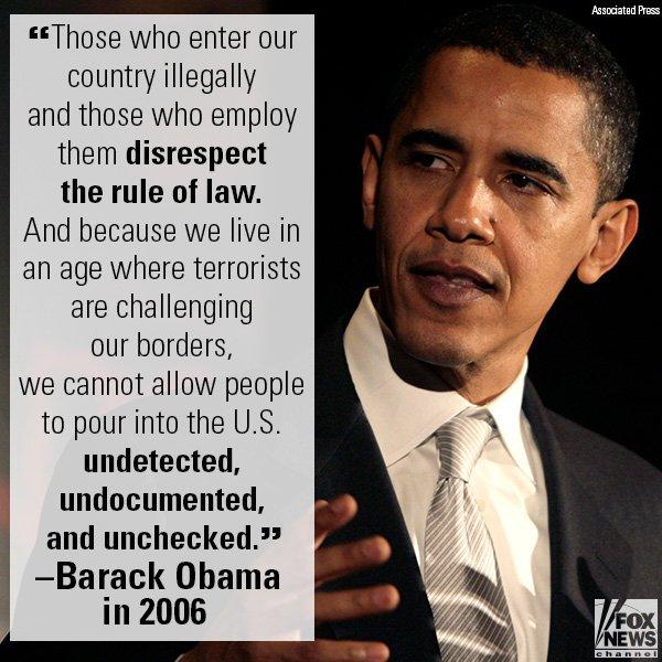 .@BarackObama on illegal immigration in 2006. https://t.co/2KfJDrkDCA https://t.co/hwGUnGE6aL