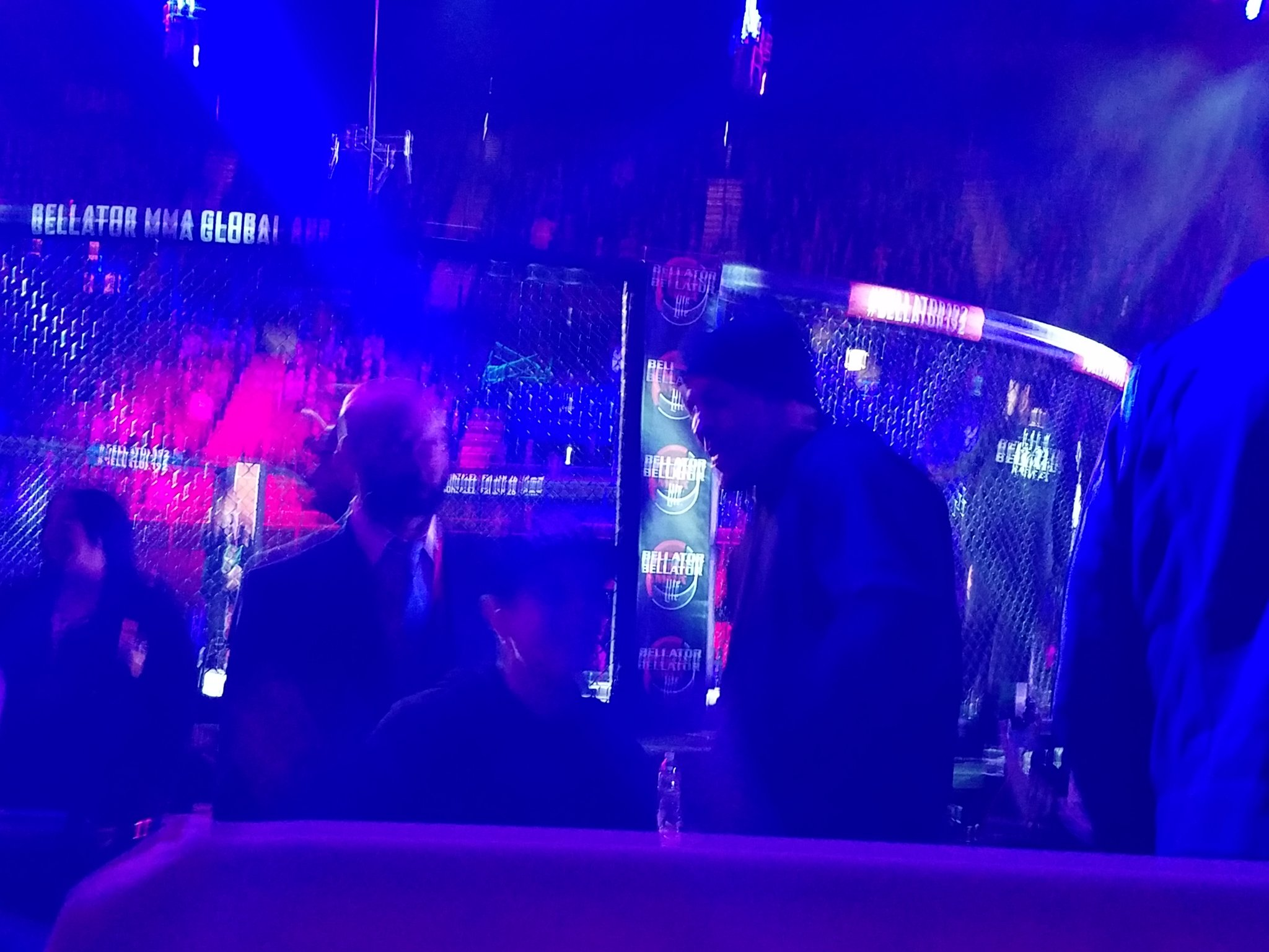 @NateDiaz209 is ringside.  #Bellator192 https://t.co/BW6HEiHoq5