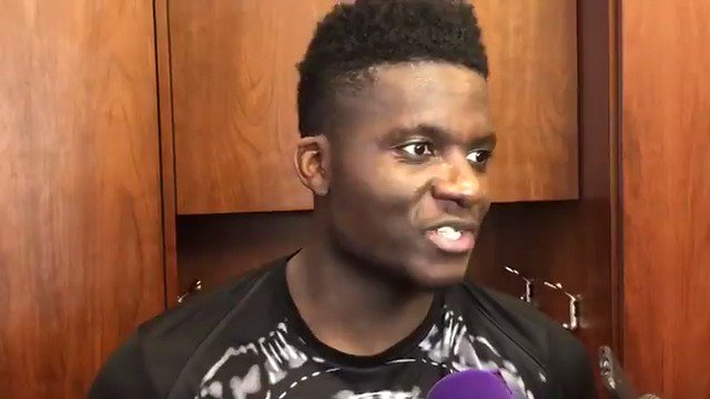 Clint Capela addresses the media after a big home win last night for the squad.   #RunAsOne �� https://t.co/8snUKu9Ljt