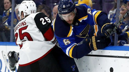 Blues lay big egg in loss at home to Coyotes