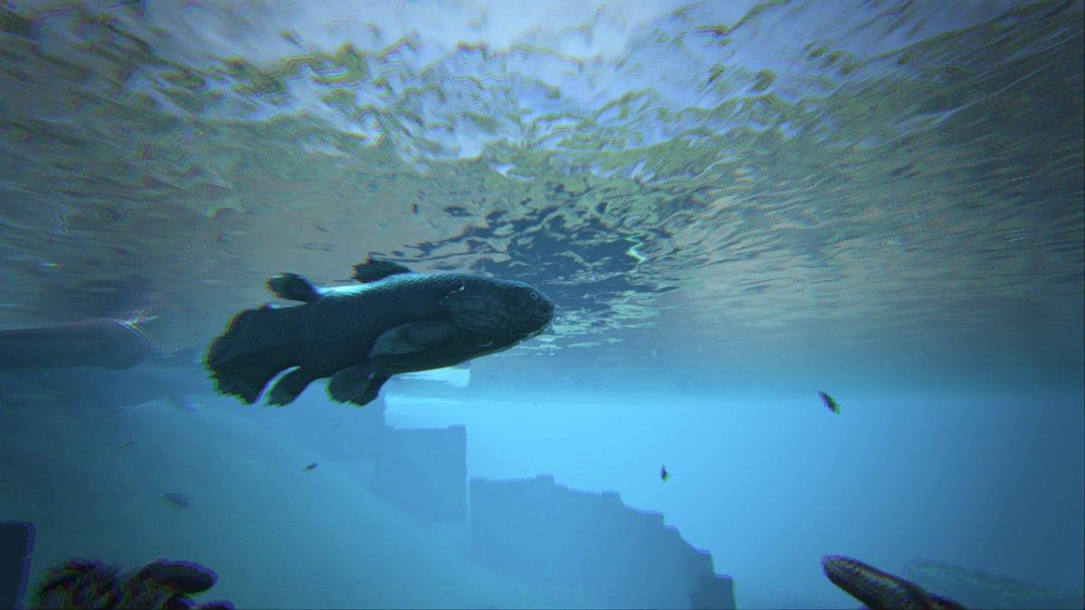 シーラカンス 魚。海や川など何処にでもおり、攻撃手段を持たず無害。イクチオルニス、ヘスペロルニスの狩りや釣りの対象となる。サイズが固体毎に異なり、0.3~3.0倍まで幅広い。大きい方が総じて得。https://t.co/IJlKlsByHQ
