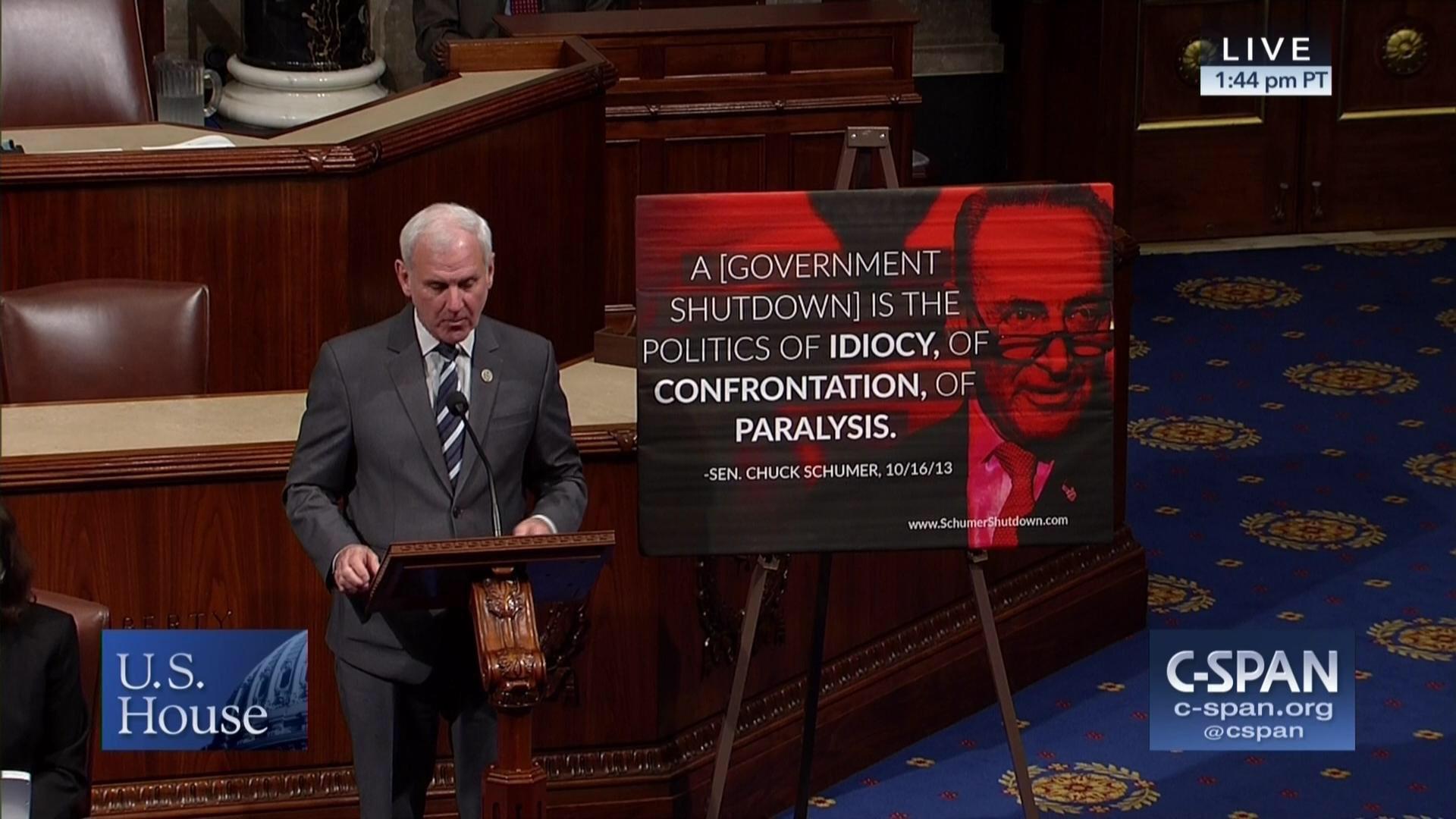 Dem forces vote on GOP lawmaker's poster slamming Schumer on House floor https://t.co/RUTL4xbEJq https://t.co/pZdEjEXeyc