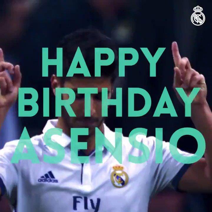 ������ #HalaMadrid  ¡Muchas felicidades a @marcoasensio10 quien hoy cumple 22 años! https://t.co/E2QLUSTKoR