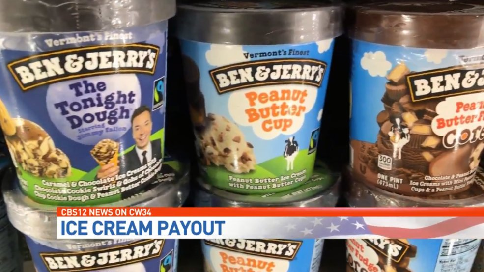 Man buys ice cream, gets thousands of dollars of cash from state