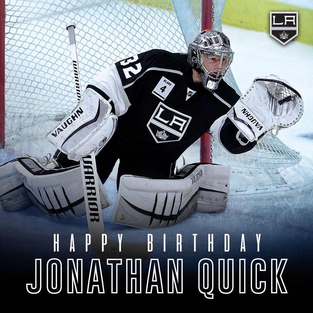 RT @STAPLESCenter: Happy Birthday to Kings' goalie @JonathanQuick32! #GoKingsGo https://t.co/CKAIqU5iQ9