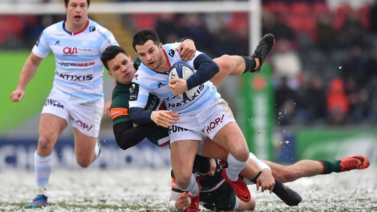 test Twitter Media - REPORT: Racing 92 23-20 Leicester: French side edge into Champions Cup quarter-finals. https://t.co/FXGGMtT3iC https://t.co/lT4zvx4lF8