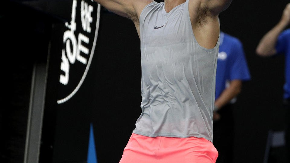Nadal beats Schwartzman, reaches Aussie Open quarterfinals