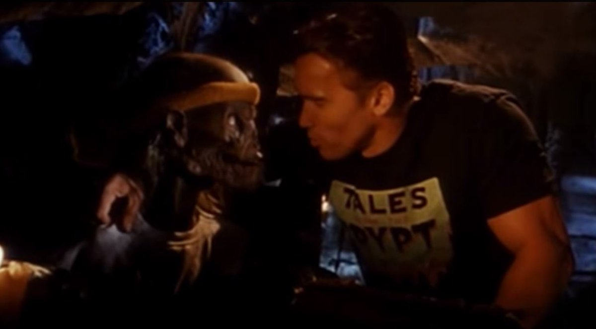 Remember that time Arnold Schwarzenegger teamed up with the Crypt Keeper to tell a story about an old man getting younger? Well, it happened! https://t.co/NZAhDNfiTZ https://t.co/R5KiqDdTmi