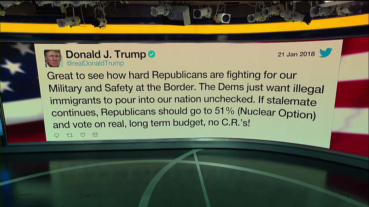 Moments ago @realDonaldTrump tweeted about the government shutdown https://t.co/VIxQRD5MFl