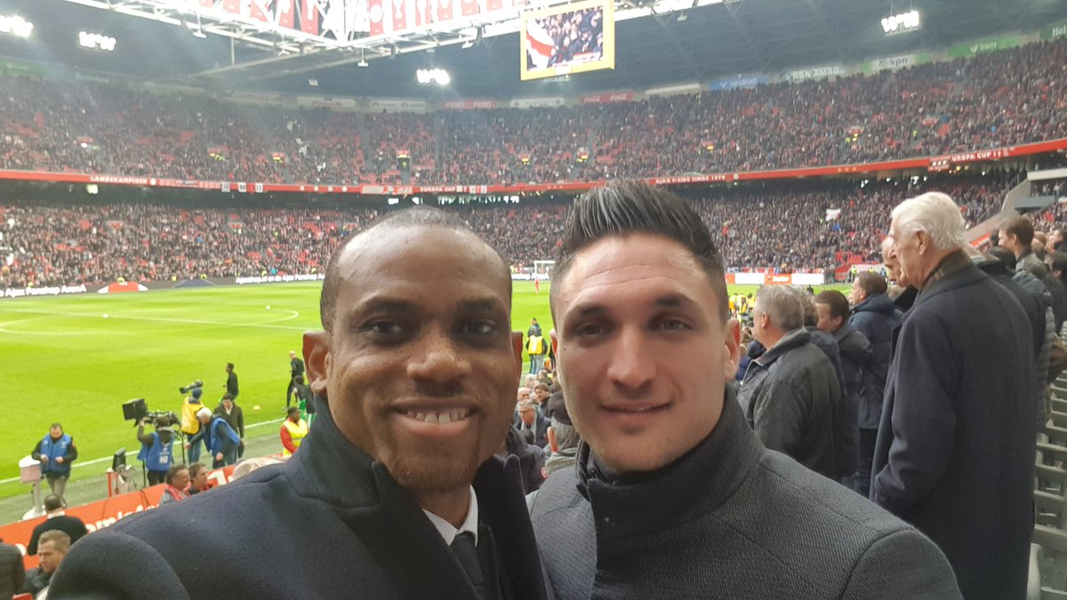 test Twitter Media - Invited to the Ajax vs Feyenoord game in company of Gino Facenna my asst coach in Amsterdam .Only missing Alex Voigt 😎😉 https://t.co/BveCF1aWgb