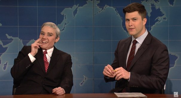 'SNL' Highlights: Stormy Does Update, Robert Mueller Bursts At The Seams https://t.co/sveCAfMayI https://t.co/x15XnAbpgw