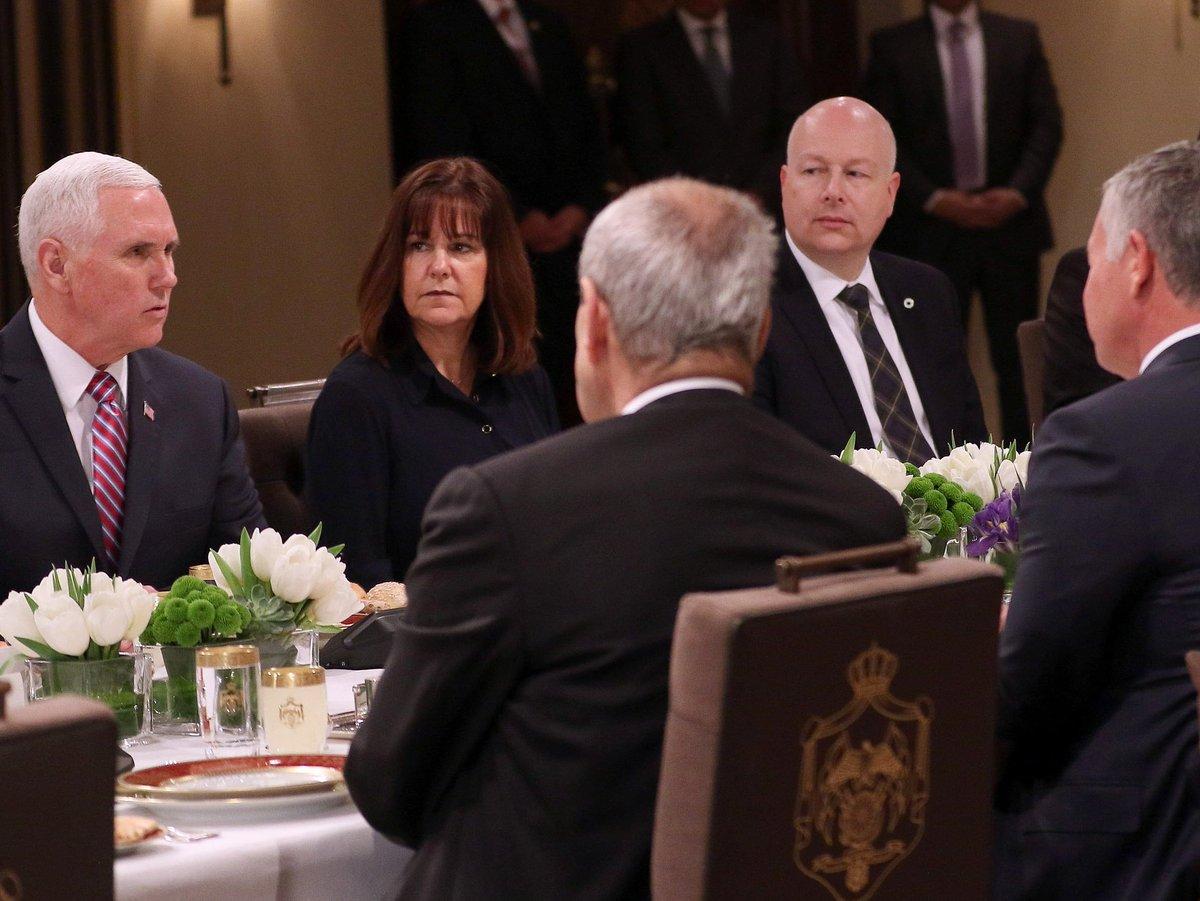 King of Jordan urges Mike Pence to 'rebuild trust' after Donald Trump's Jerusalem pivot