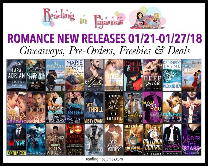 ROMANCE NewReleases 01/21-01/27/18 Giveaways PreOrders Freebies & Deals