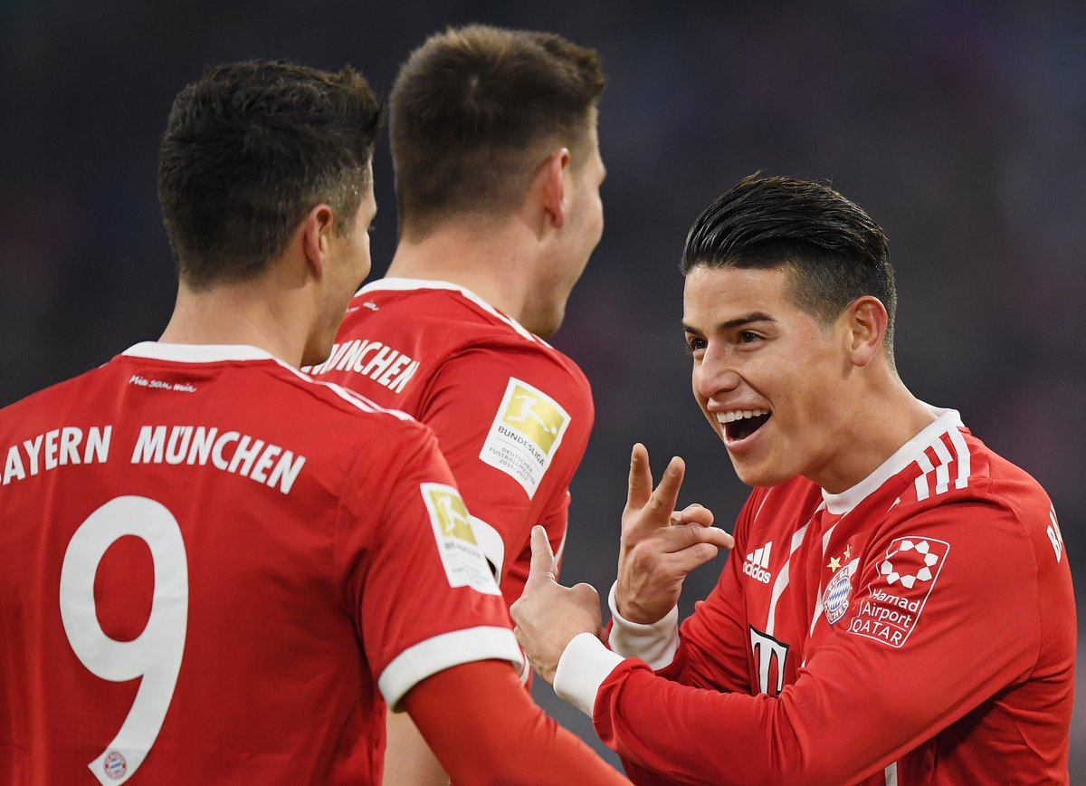 """#Heynckes: """"@jamesdrodriguez has developed very well at Bayern. It's not just impulse he brings to us, he has creativity too. He is always ready to run and fight for the team."""" #FCBSVW https://t.co/HflDBF5wJ6"""