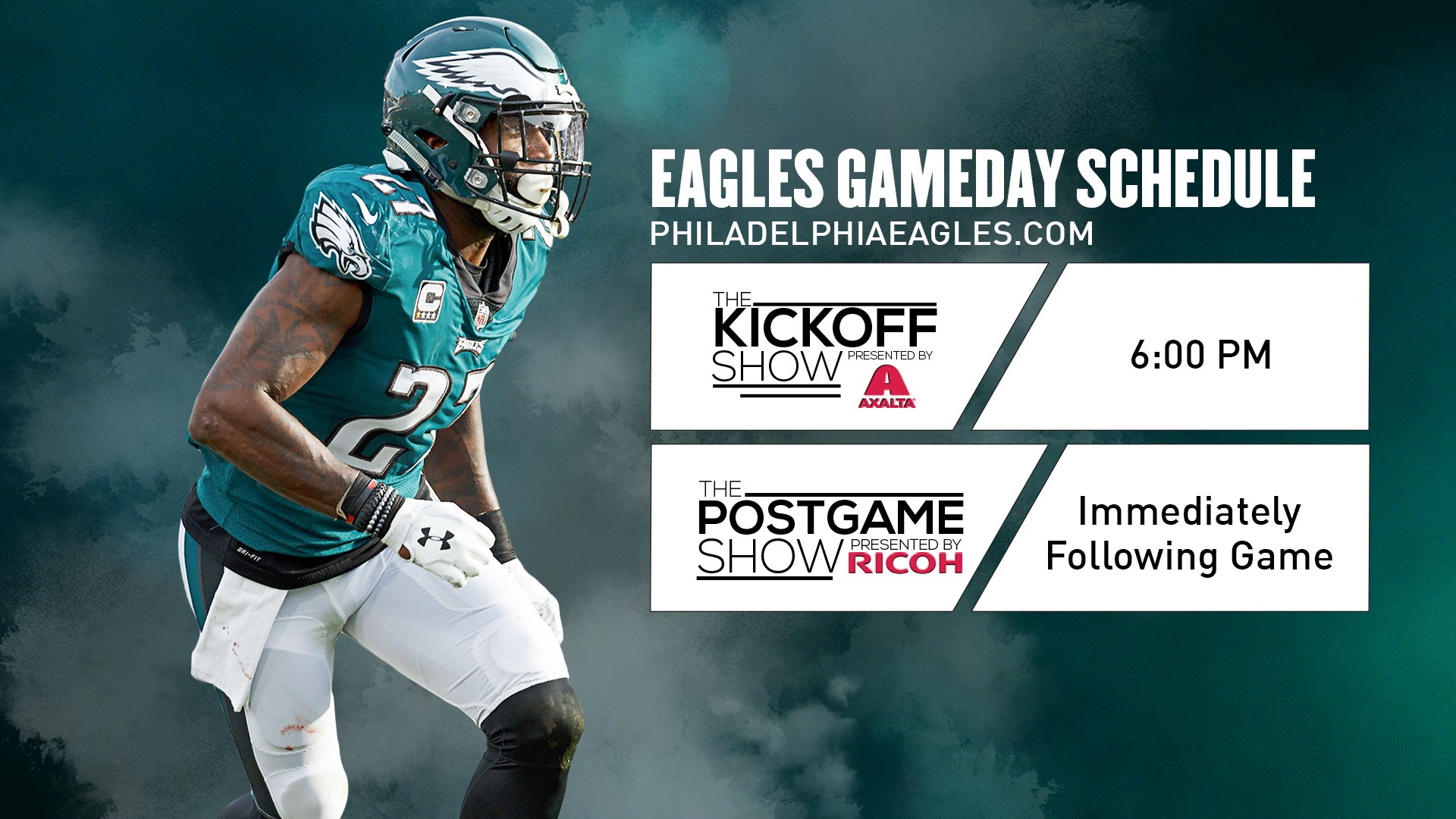 Tonight's #MINvsPHI Gameday schedule.  #FlyEaglesFly https://t.co/36yNpaQIOU