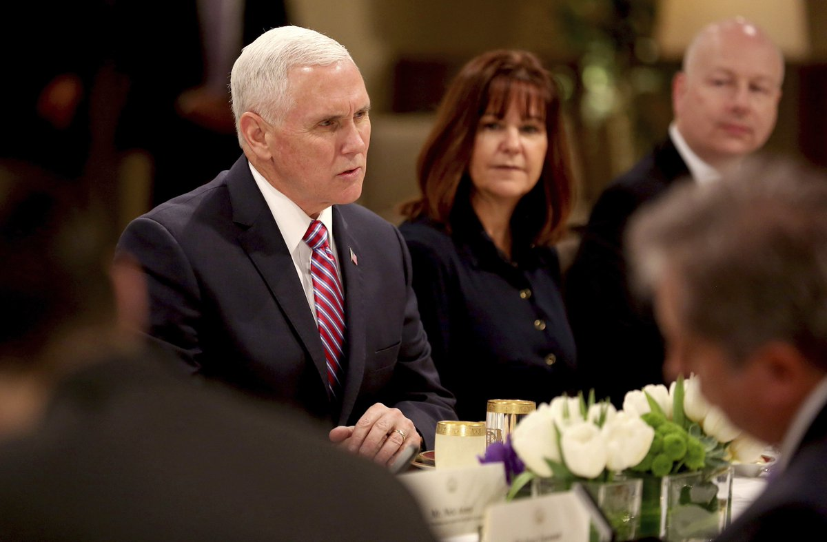 Pence accuses Congress of playing politics with military pay