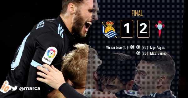 FINAL | El Celta también remonta en Anoeta (1-2) https://t.co/DTFhiFjWsS #RealSociedadCelta #LaLiga https://t.co/Z6BCIabJex