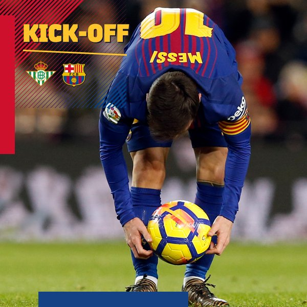 ⏰ The game is under way in the Benito Villamarín �� Let's go Barça! �� ���� #BetisBarça #ForçaBarça https://t.co/Fl4MF3yBGm
