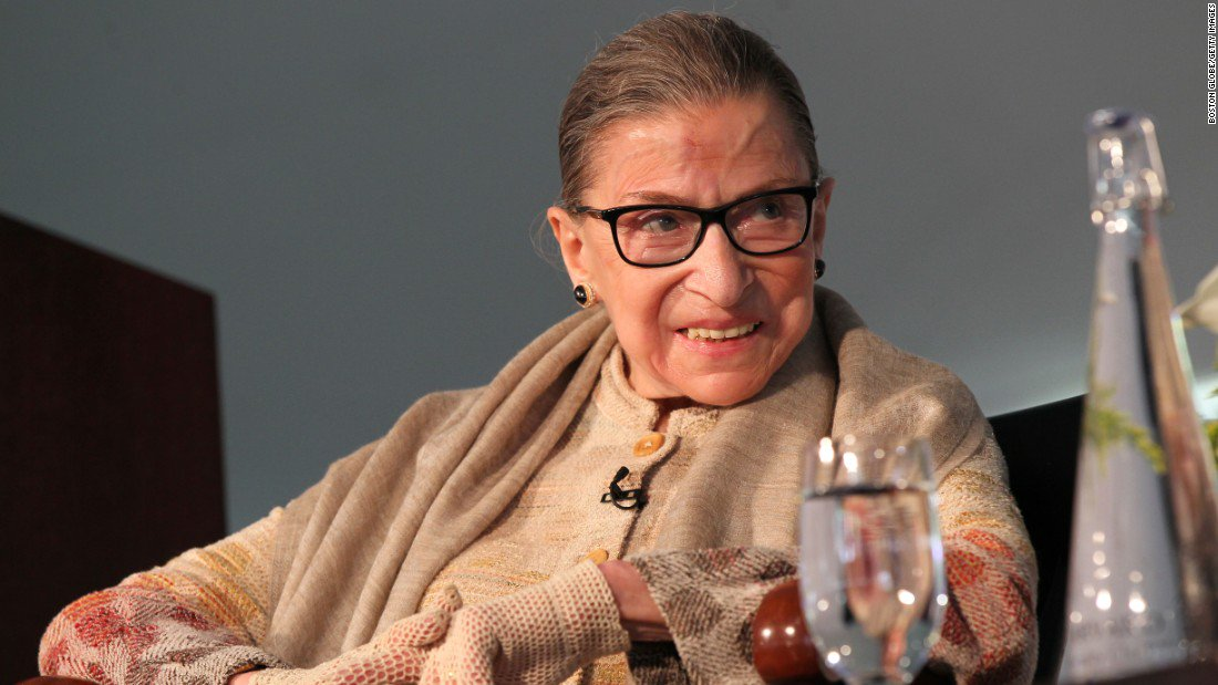"""Supreme Court Justice Ruth Bader Ginsburg: """"For so long, women were silent"""" https://t.co/a9tueSRibI https://t.co/ZF05J35snK"""