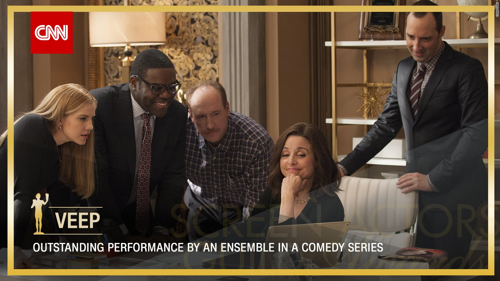 'Veep' wins Outstanding Performance by an Ensemble in a Comedy Series. https://t.co/cPly9Wzl8b #SAGAwards https://t.co/1oJ7HDaNpU