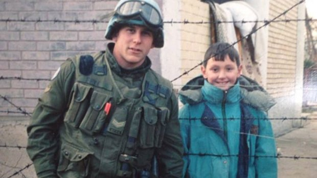 Canadian veteran reunited with boy he befriended in Bosnia decades ago