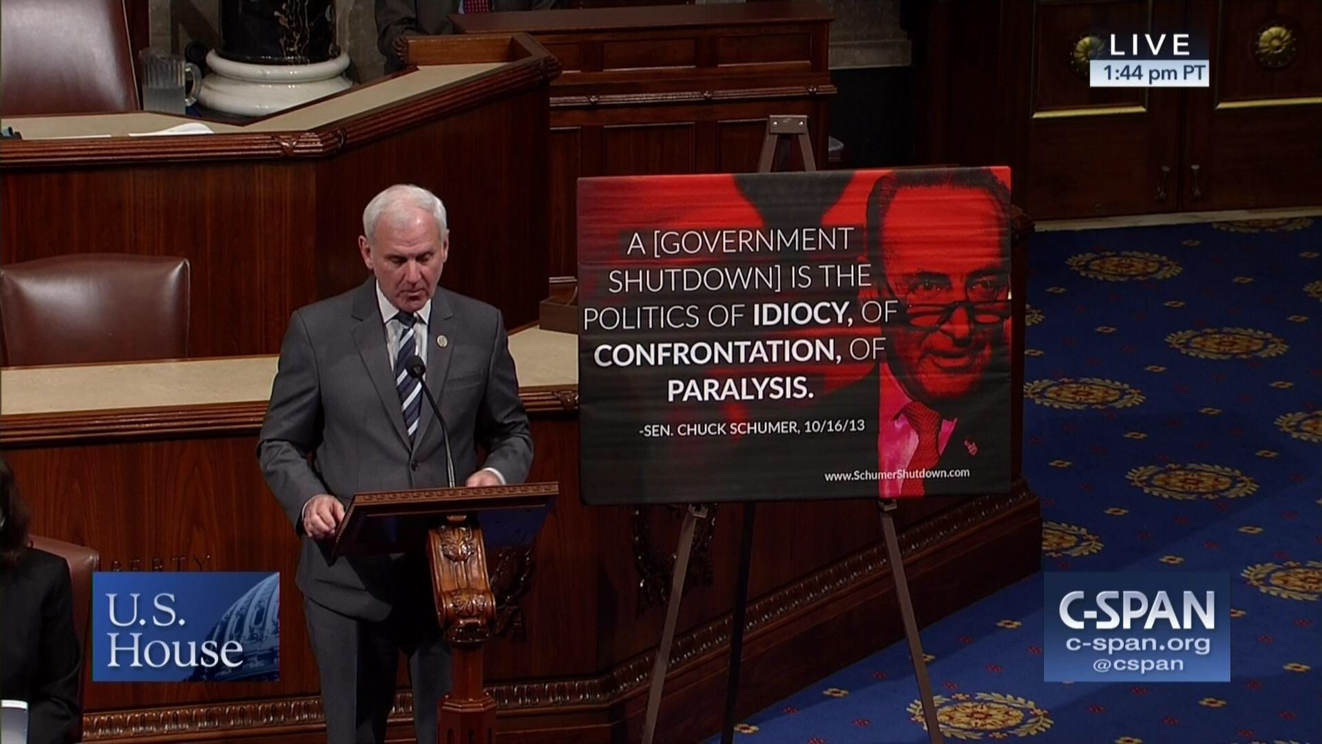 Dem forces vote on GOP lawmaker's poster slamming Schumer on House floor https://t.co/fV2MBP8wVQ https://t.co/WpSm6VlX3g