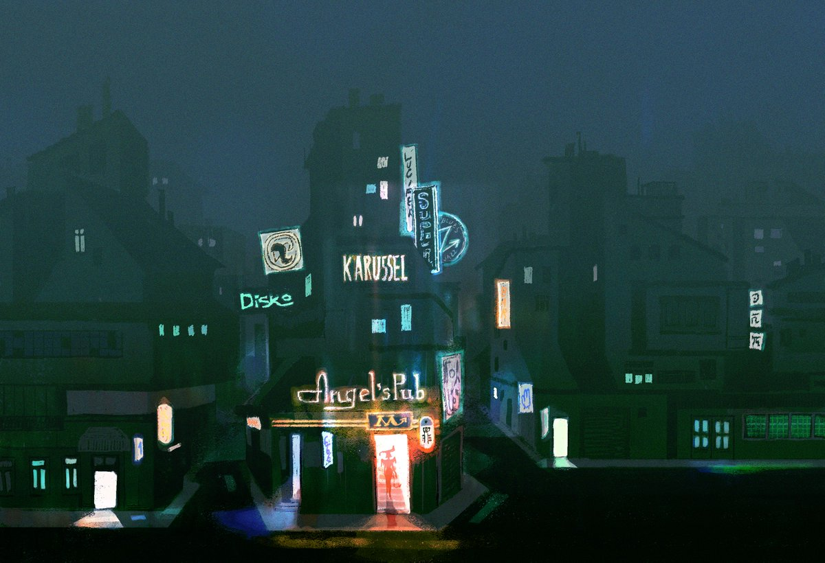 """RT @AfterpartyGame: Concept environment art for #AfterpartyGame- """"Angel's Pub"""" https://t.co/o0DK16s3Xr"""