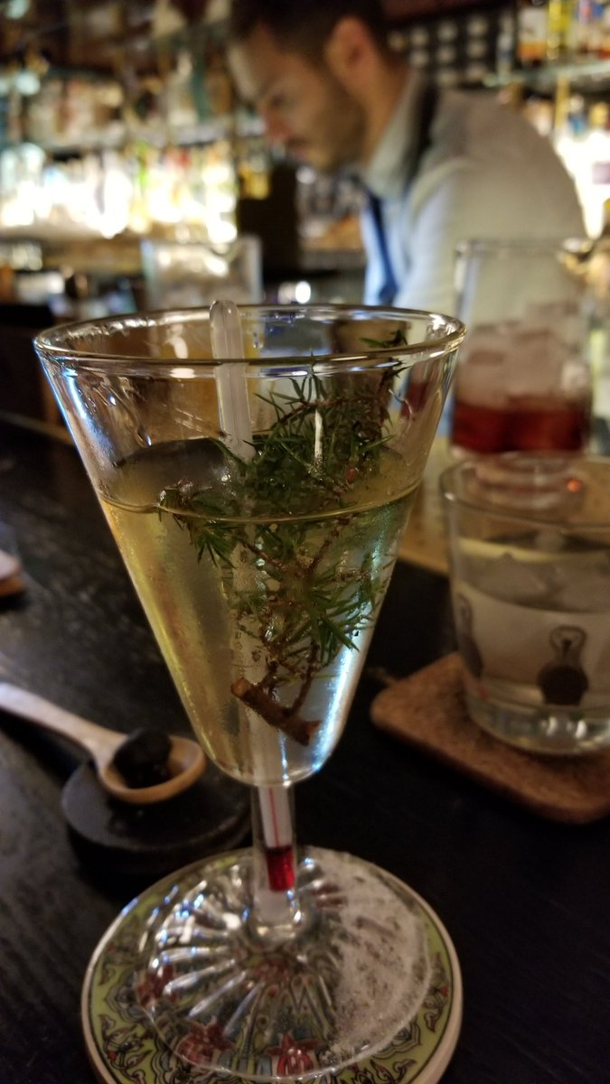 test Twitter Media - The Blackrock #Martini from @OrioleBar, a highlight of this trip. Botanist with Scotch and Atholl Brose, with charred juniper infusion and a juniper sprig garnish. Subtle, herbal, fresh. Just lovely. #cocktails https://t.co/mZ8wyQpCrm