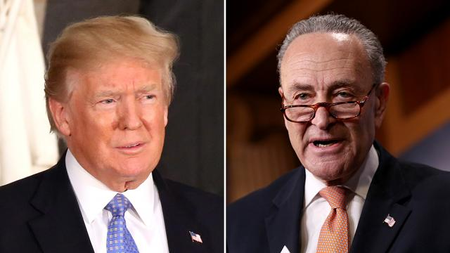 Schumer shreds Trump: He can't say yes one minute and no the next https://t.co/ENFBtOv7q4 https://t.co/35zMCnMnsy