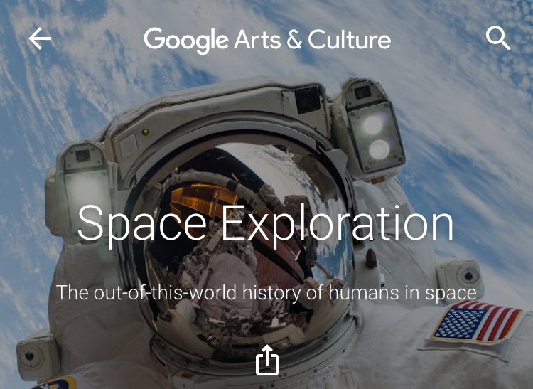 We already know that the @googlearts and culture app is awesome for its new your-portrait-in-a-museum feature, but did you know there is a very cool space exploration section too? #GoogleArtsandCulture https://t.co/rOcR0W6ePp