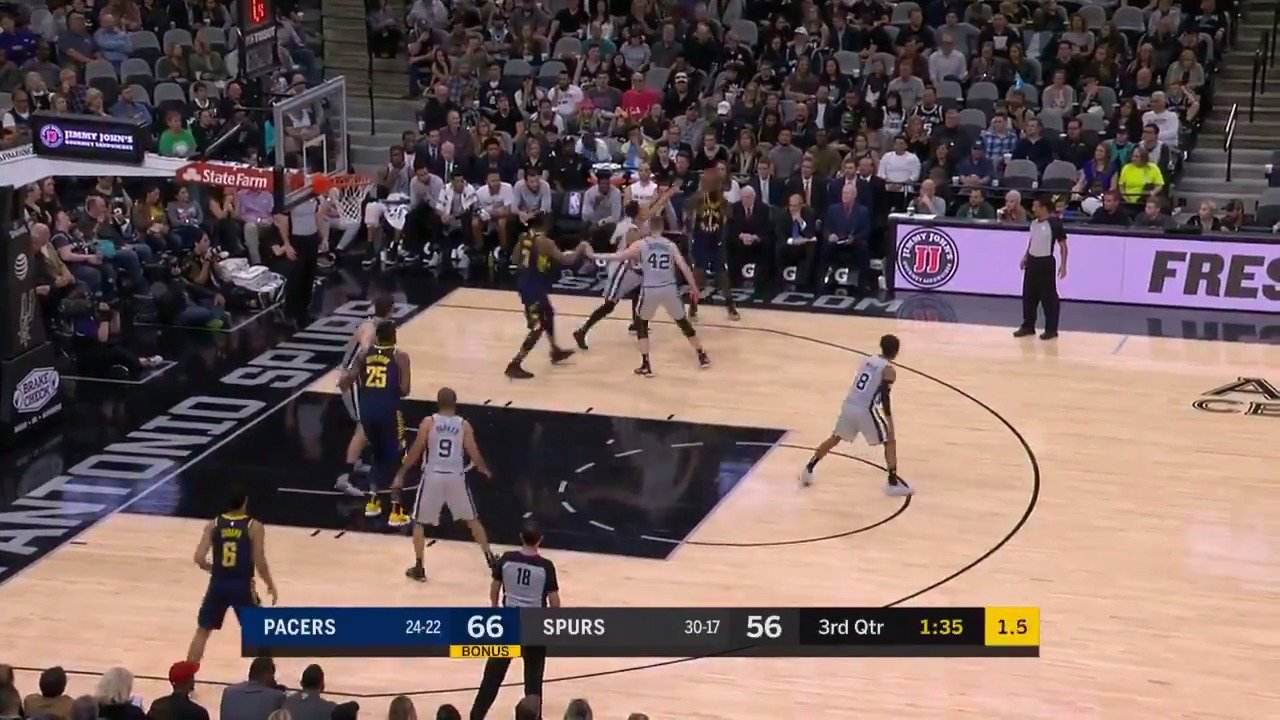 Lance Stephenson knocks down the ��to beat the shot clock!  #Pacers  ��: #NBALeaguePass https://t.co/ZGPnYj8O4T