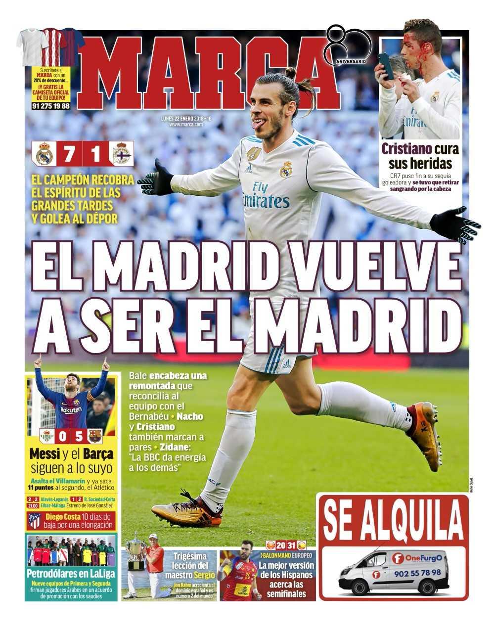 #LaPortada El Madrid vuelve a ser el Madrid https://t.co/flKz0g99Fy
