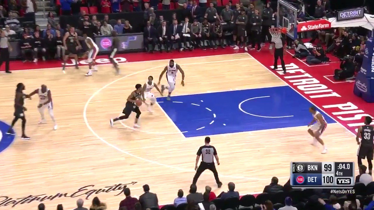 The best moments from the wild finish between the @BrooklynNets and @DetroitPistons in the Motor City! https://t.co/Q2ASPeMypN