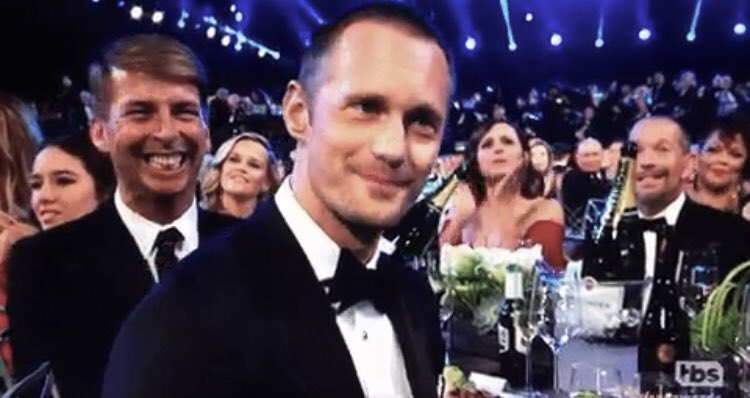 RT @thisjenlewis: Did Alexander Skarsgård and Jack McBrayer arrive as dates to the SAG Awards please say yes https://t.co/SCef5az1WE