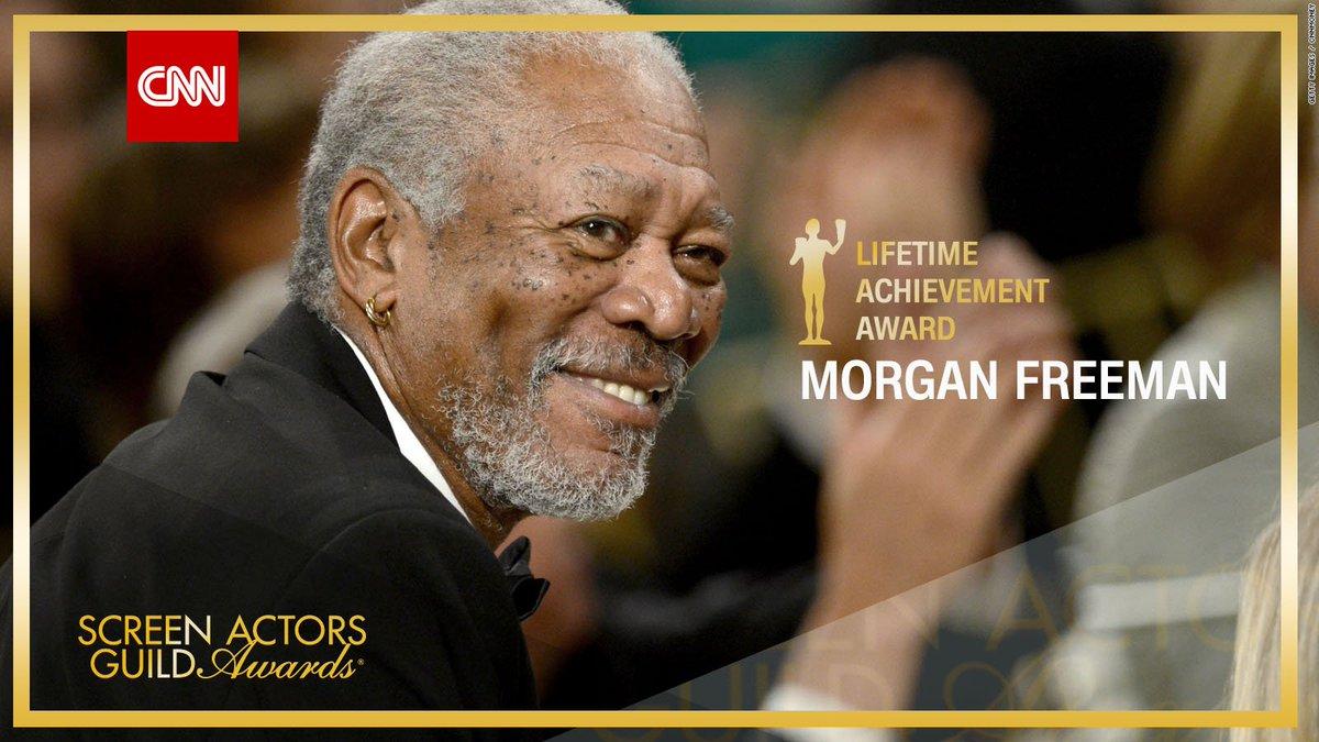 RT @CNN: Morgan Freeman receives Lifetime Achievement Award. https://t.co/NooctD19aC #SAGAwards https://t.co/DJMeWOeFRH