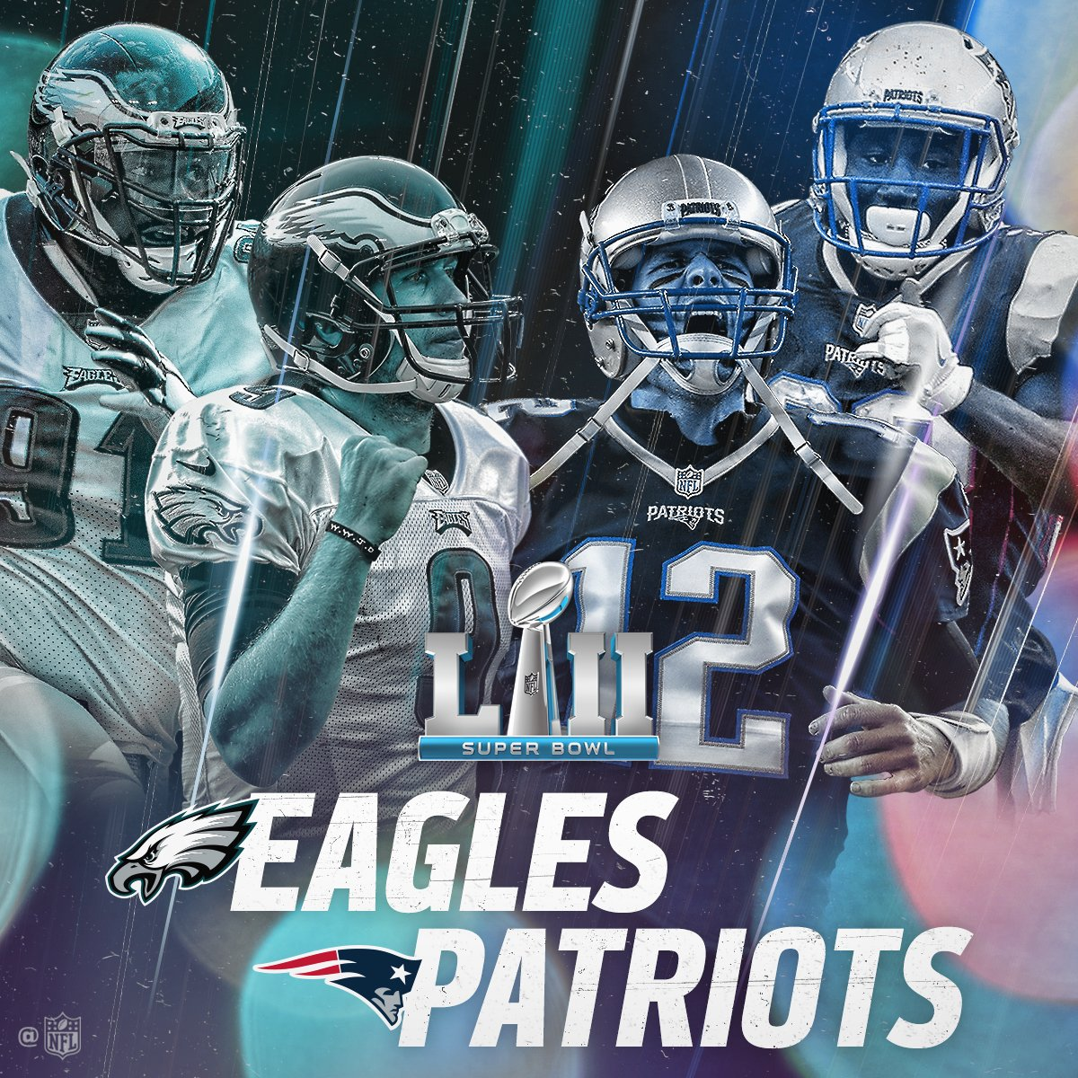 RT @NFL: The @Eagles. The @Patriots.  See you in Minneapolis! #GoPats #FlyEaglesFly #SBLII https://t.co/CASwWvUpXC