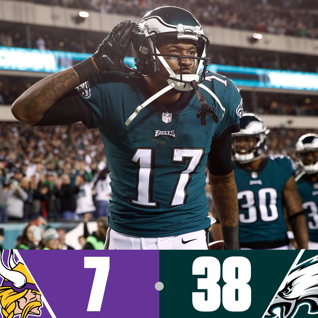 The Eagles are headed to the Super Bowl! https://t.co/p72rw2Ux8K