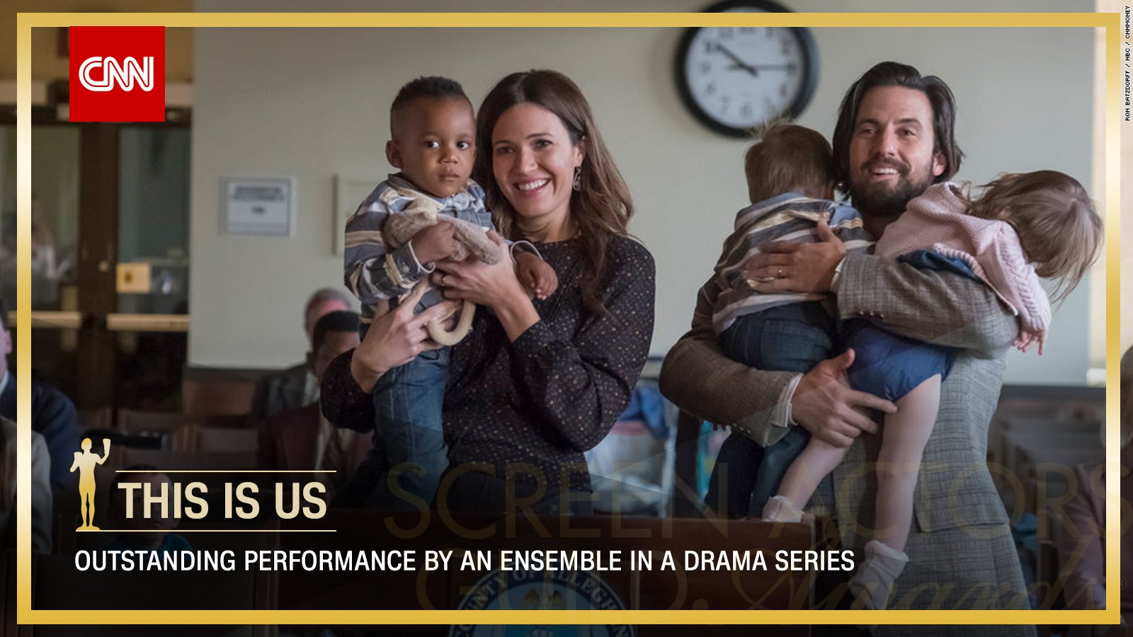 'This Is Us' wins Outstanding Performance by an Ensemble in a Drama Series. https://t.co/cPly9Wzl8b #SAGAwards https://t.co/QnEFVBXweh