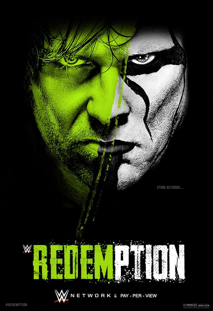 RT @THENEXTNTERN: @Sting RETURNS....  Custom PPV  #REDEMPTION #WWE https://t.co/eyeqU51cWQ