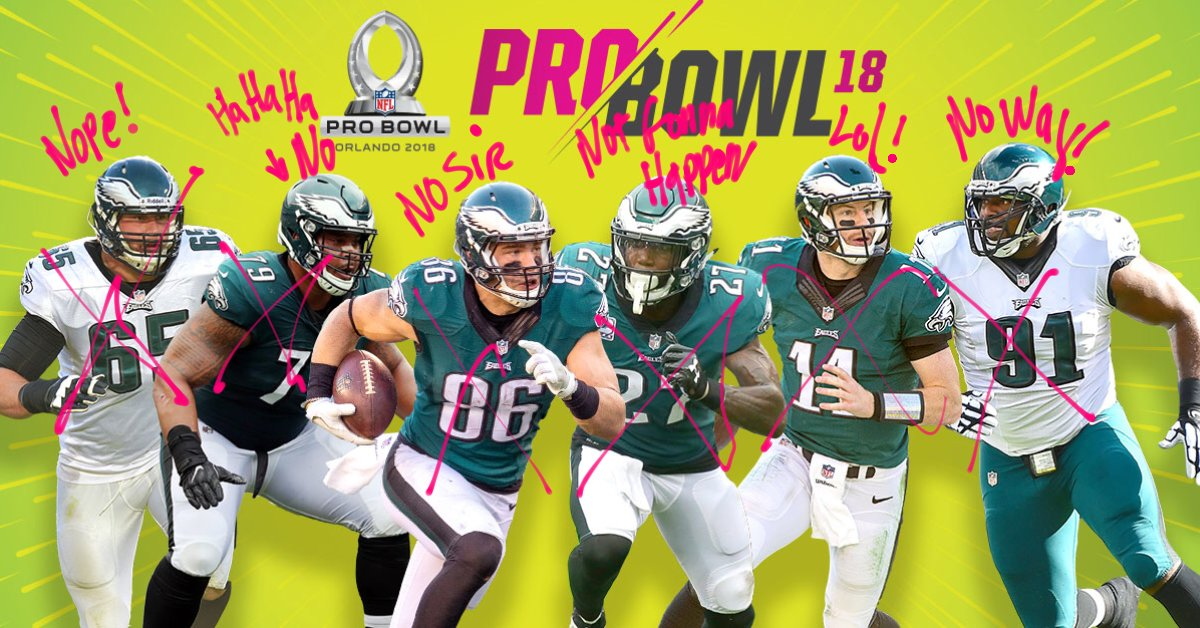 BREAKING: Zero #Eagles will be attending this year's Pro Bowl.  #FlyEaglesFly https://t.co/eFfisPi7TJ