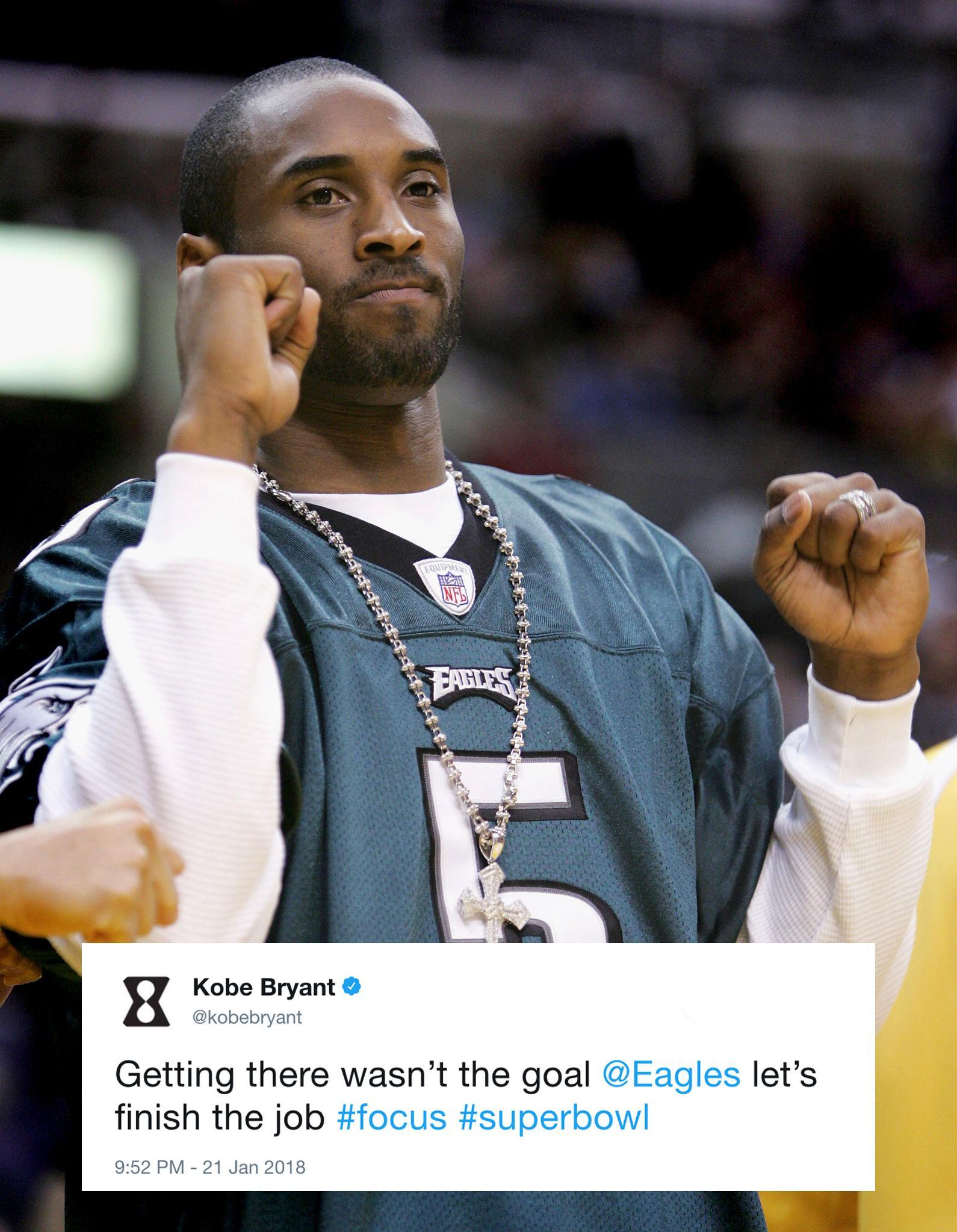Kobe is ready for the Super Bowl. https://t.co/BkWaqARJYr