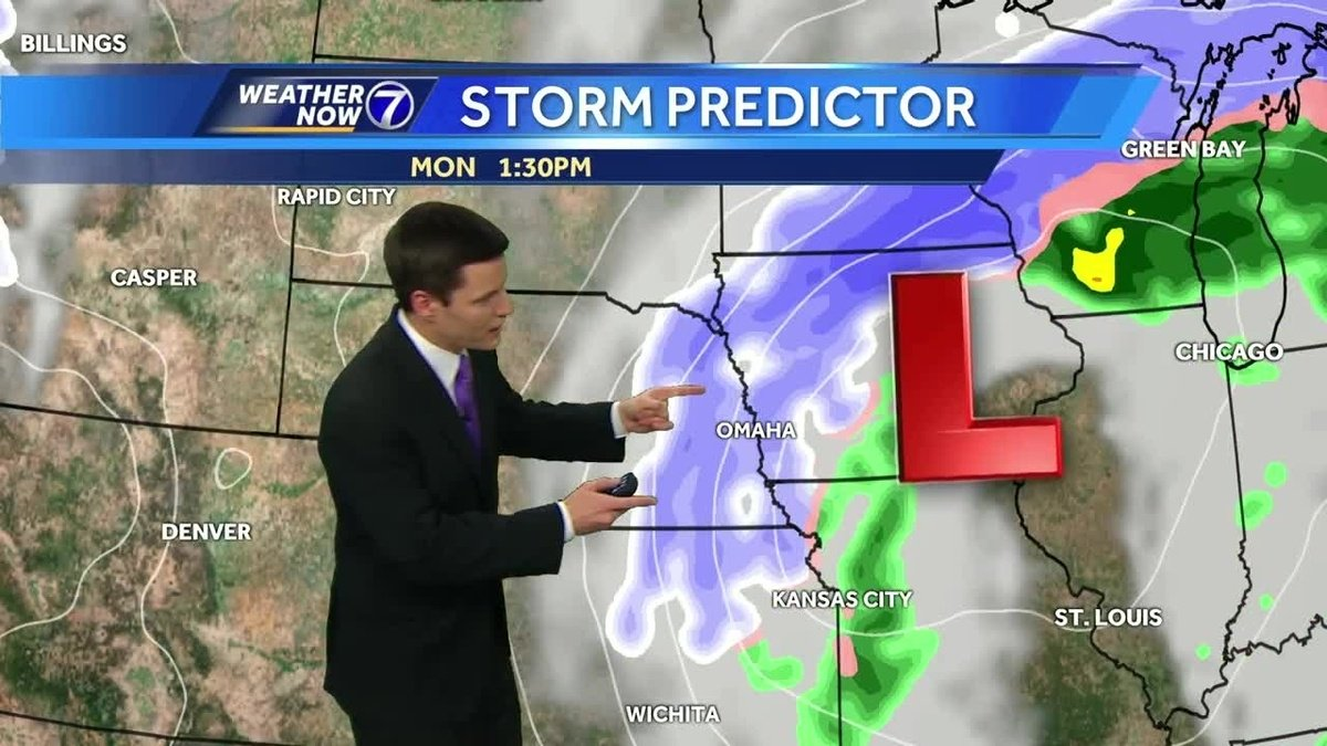 Omaha under a Winter Storm Warning Monday, Blizzard Warning north and west