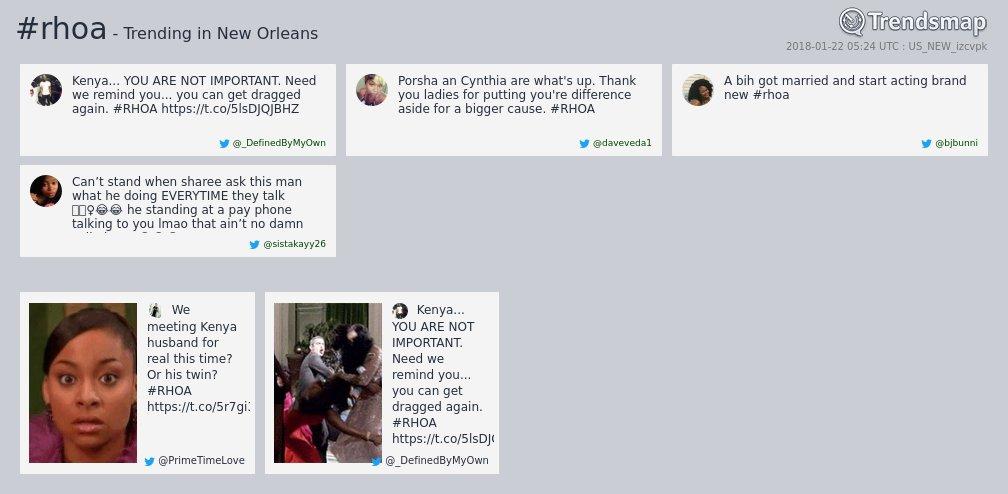 #rhoa is now trending in #NewOrleans  https://t.co/1zzANnQl4M https://t.co/g4ODYvspaO
