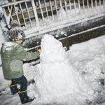 夜の雪だるま作り。 夫と息子が元気に雪だるま作り始めたので 少しだけ私も出てパシャっと撮って避難。...
