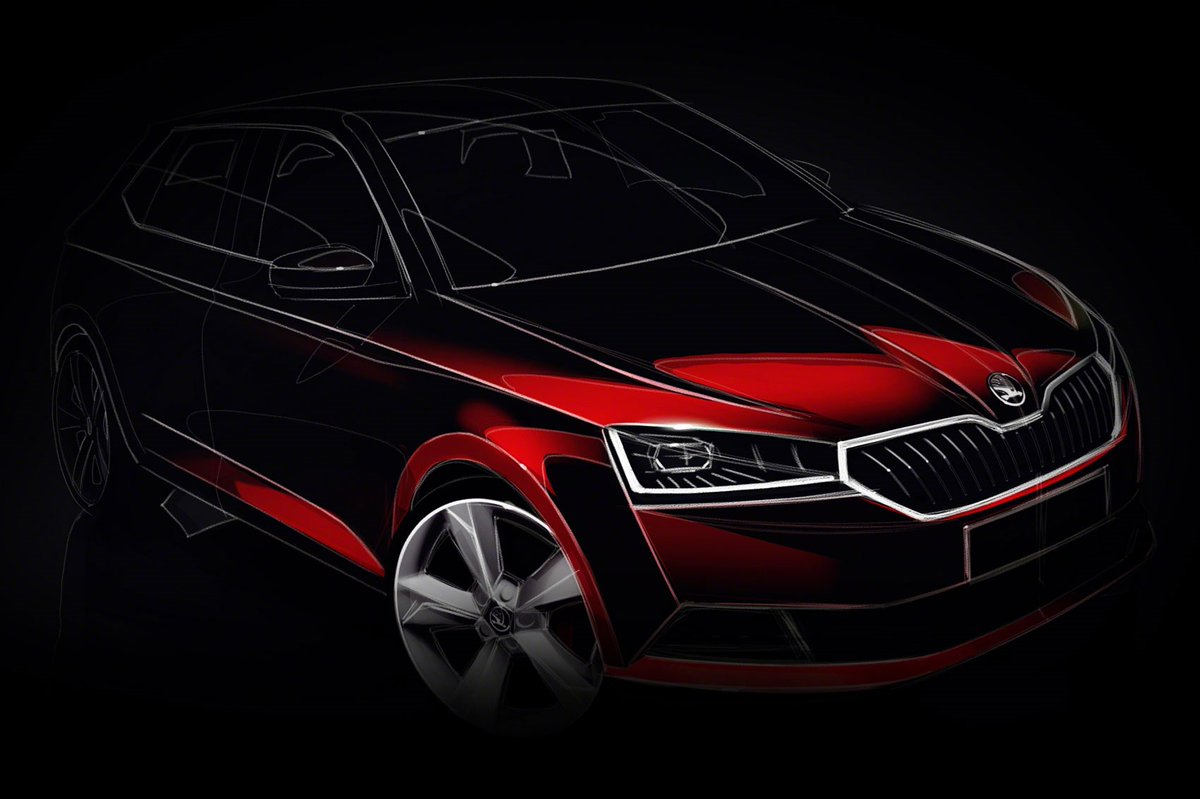First picture of new Skoda Fabia facelift bound for Geneva 2018