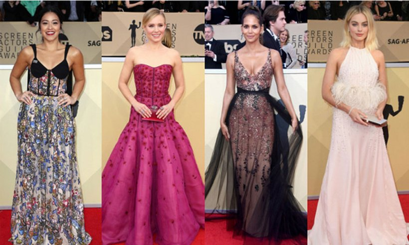 A look at the best red carpet fashion from the 2018 SAG Awards: