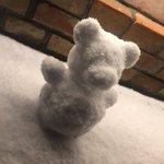 RT : 図書館前に我々のより5億倍くらいかわいい雪だるまを見つけて...