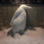 RT : 4年前には親ペンギンの雪だるまつくってました #雪だるま https...